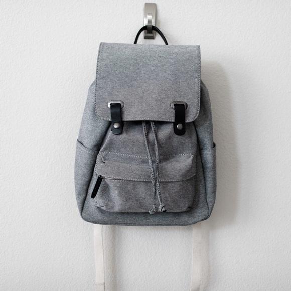 Everlane Handbags - Everlane Modern Snap Backpack in Reverse Denim 38d93a22d751a